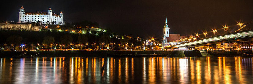 Bratislava Danube Night
