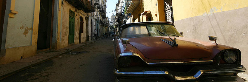 Car Parked on Street in Havana