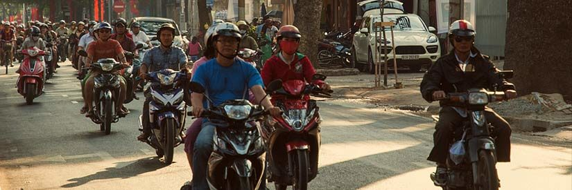Ho Chi Minh City scooters