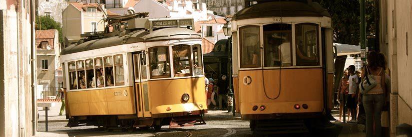 Streetcars in Lisbon