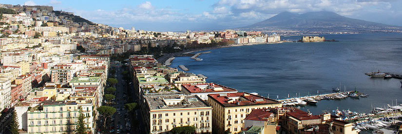 Naples Coastline City Mount Vesuvius