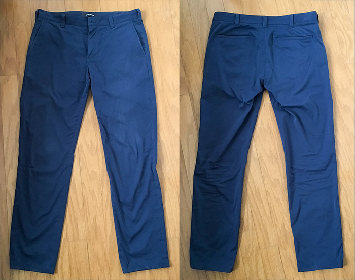 Bluffworks Tailored Chinos, front and back view