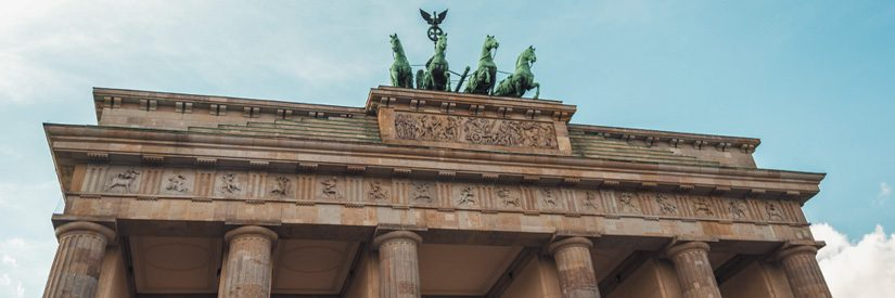 Upper portion of the Brandenburg Gate, Berlin