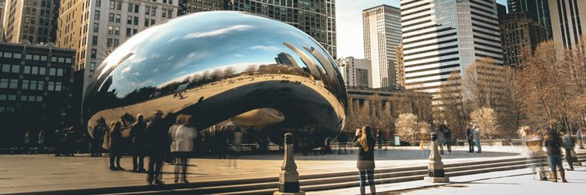 Cloud Gate (Bean) public sculpture in Chicago