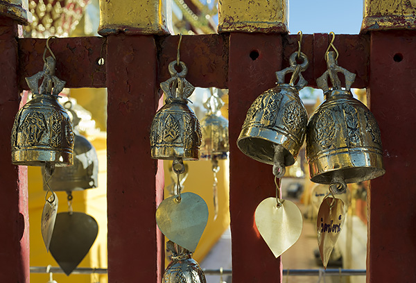 Buddhist bells at Doi Suthep temple in Chiang Mai