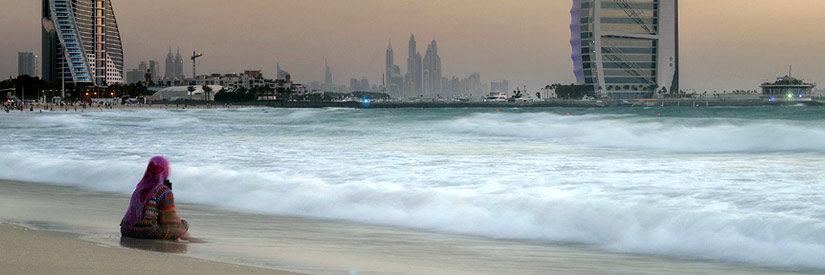 Dubai - Woman at the Beach