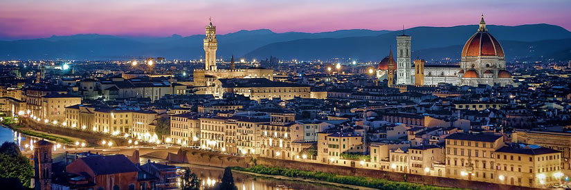 Florence sunset cityscape