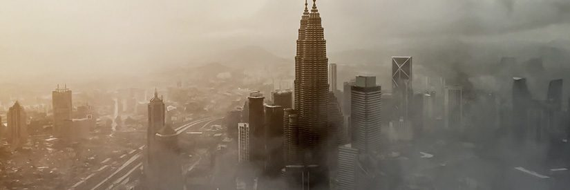 Kuala Lumpur aerial cityscape from KL Tower