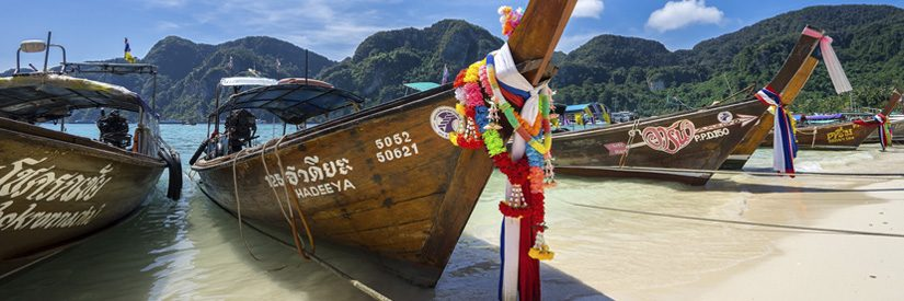 Ko Phi Phi Boats During Island Tour