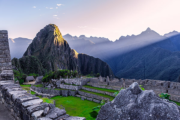 Sunrise shot of Machu Picchu, Peru