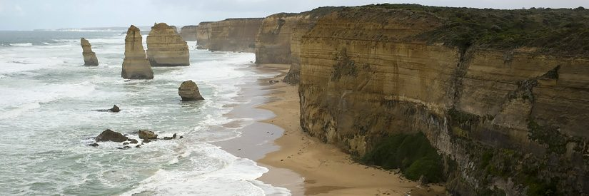 12 Apostles rock formation on the Great Ocean Road in Australia