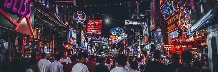Pattaya Night street Neon Lights