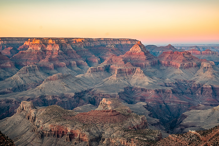 Landscape shot of the Grand Canyon