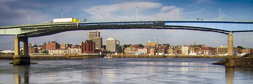 Saint John, New Brunswick, Canada: Skyline and bridge