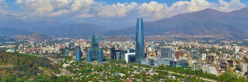 Valley view in Santiago, Chile